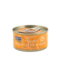 Fish4Cats filetti di tonno con calamari umido gatto 70g