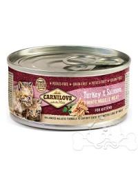 Carnilove Umido Gato Kitten Tacchino e Salmone