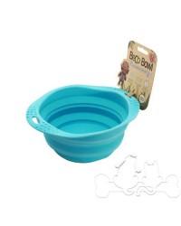 Beco Bowl Ciotola Pieghevole in Silicone Blu