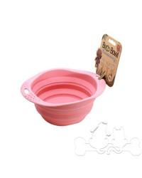 Beco Bowl Ciotola Pieghevole in Silicone Rosa