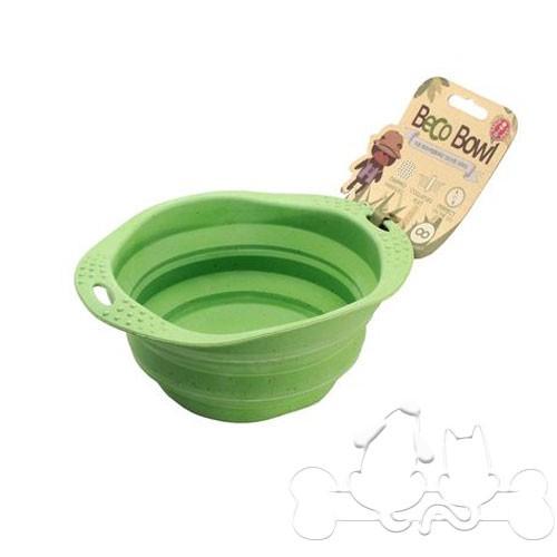 Beco Bowl Ciotola Pieghevole in Silicone Verde