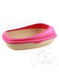 Beco Tray Lettiera Eco-Compatibile per Gatto Rosa