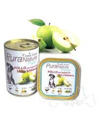 Dalla Grana Pura Natura umido cane Puppy pollo mele e echinacea 150g e 400g