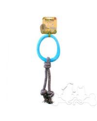 Beco Hoop Anello con Corda Eco-Compatibile Blu per Cani