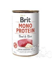 Brit Umido Cane Monoproteico Manzo e Riso
