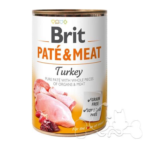 Brit Umido Cane patè e pezzi di Tacchino