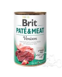 Brit Umido Cane patè e pezzi di Cervo