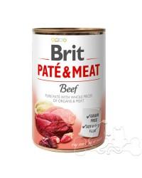 Brit Umido Cane patè e pezzi di Manzo