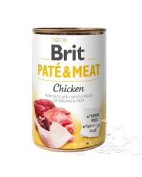 Brit Umido Cane patè e pezzi di Pollo