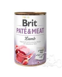 Brit Umido Cane patè e pezzi di Agnello