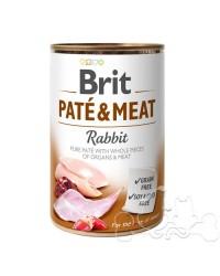 Brit Umido Cane patè e pezzi di Coniglio