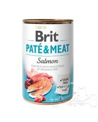 Brit Umido Cane patè e pezzi di Salmone