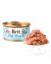 Brit Fish Dreams umido gatto trota e tonno 80g