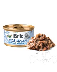 Brit Fish Dreams umido gatto sgombro e alghe marine 80g