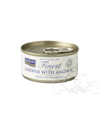 Fish4Cats filetti di Sardine con Acciughe umido gatto