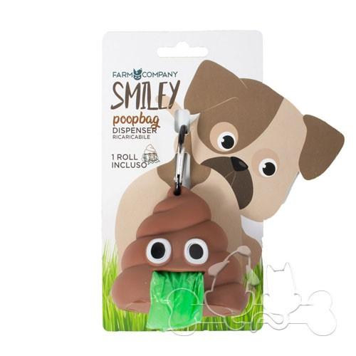 Smiley Poopbag Dispenser Sacchetti Igienici