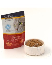 Fish4Cats trota mousse umido gatto 100g