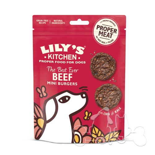 Lily's Kitchen Beef Mini Burgers Snack per Cani