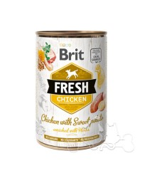Brit Fresh Pollo e Patate Dolci Umido Cane