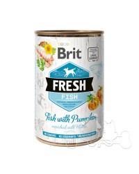 Brit Fresh Pesce e Zucca Umido Cane