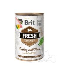 Brit Fresh Tacchino e Piselli Umido Cane