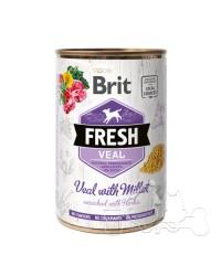 Brit Fresh Vitello e Miglio Umido Cane