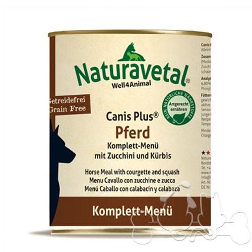 Naturavetal Umido Canis Plus Cavallo e Zucchine Menu Completo Adulti
