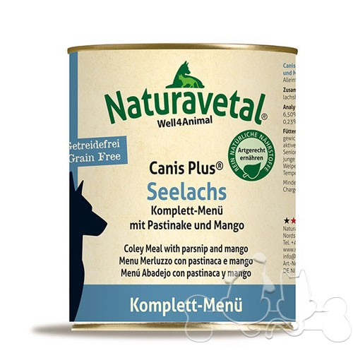 Naturavetal Umido Canis Plus Merluzzo e Pastinaca Menu Completo Adulti
