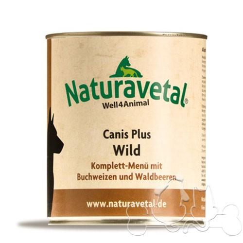 Naturavetal Umido Canis Plus Selvaggina e Frutti di Bosco Menu Completo Adulti