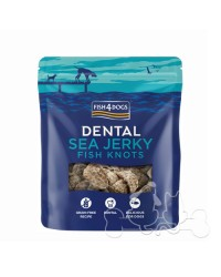 Fish4Dogs Dental Sea Jerky Knots Snack Per Cani