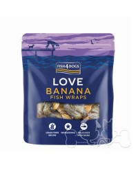 Fish4Dogs Love Banana Fish Wraps Snack Per Cani