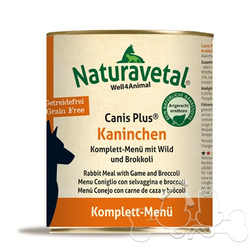 Naturavetal Umido Canis Plus Coniglio Selvaggina Menu Completo Adulti