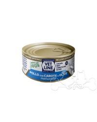 Vetline Umido Gatto Pollo con Carote e Olive al Naturale