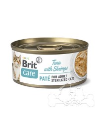 Brit Care Umido Gatto Adult Sterilized Tonno e Gamberetti