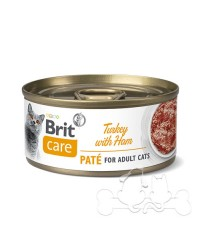 Brit Care Umido Gatto Adult Tacchino e Prosciutto