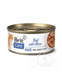 Brit Care Umido Gatto Adult Manzo e Olive