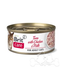 Brit Care Umido Gatto Adult Tonno Pollo e Latte