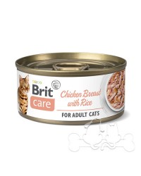 Brit Care Umido Gatto Adult Petto di Pollo e Riso