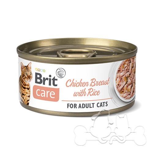 Brit Care Umido Gatto Adult Petto di Pollo e Riso