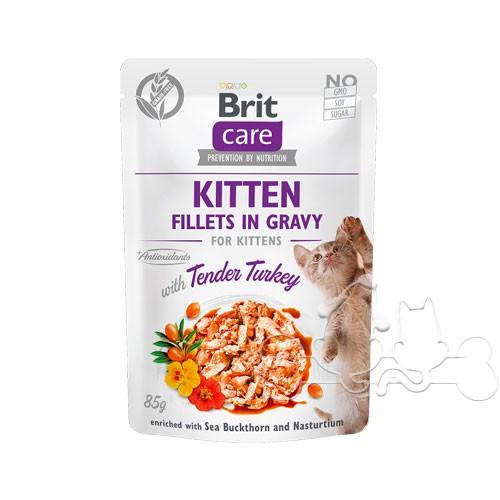 Brit Care Umido Gatto Bustine Kitten Tenero Tacchino