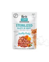 Brit Care Umido Gatto Bustine Sterilizzato Coniglio Succulento