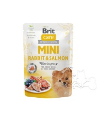 Brit Care MINI Umido Cane Adult Coniglio e Salmone