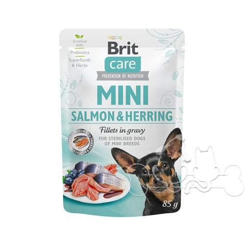 Brit Care Umido Cane Bustine Adult Salmone e Aringa
