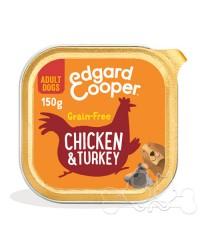 Edgard & Cooper umido cane Adult Pollo Tacchino Mela e Mirtillo