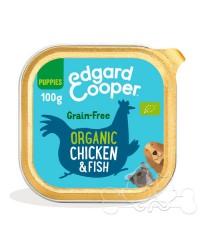 Edgard & Cooper umido cane Puppy BIO Pollo Pesce Carote e Piselli