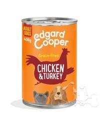 Edgard & Cooper umido cane Adult Pollo Tacchino Mela e Fragola