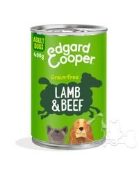 Edgard & Cooper umido cane Adult Agnello Manzo Mele e Carote