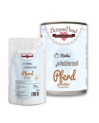 Herzens Hund Cavallo con Zucca Bio Senza Cereali Umido Per Cani