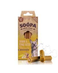 Soopa Dentalstick Banana e Burro di Arachidi Snack per Cani