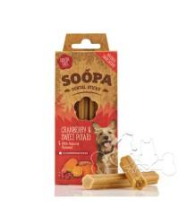 Soopa Dentalstick Mirtilli Rossi e Patate Dolci Snack per Cani